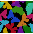 Beautiful seamless background of butterflies vector image