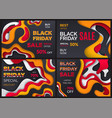 black friday special offer discounts sales set vector image vector image