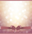 bokeh background with pastel ribbon vector image vector image