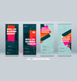 business roll up banner abstract roll up vector image vector image