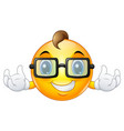 cartoon emoji emoticon smiley face wearing a sungl vector image