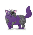 cartoon images of cute different cat vector image vector image