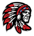 chief mascot head vector image