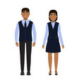 children dressed in school uniform happy boy and vector image