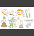 chinese food cool promo labels collection vector image vector image