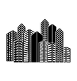 contour buildings and city scene icon image vector image vector image