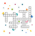 crossword template with butterflies vector image vector image