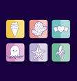 cute related icons vector image