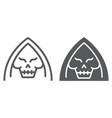 death line and glyph icon halloween and horror vector image vector image