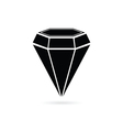 diamond jewel black vector image