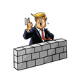 Donald Trump Build Wall vector image vector image