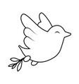 dove bird symbol vector image vector image