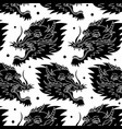 dragon traditional tattoo pattern vector image vector image