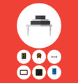 flat icon appliance set of resistor transistor vector image vector image