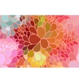 floral background of drawn lines vector image vector image