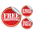 Free shipping free delivery and 100 percent free vector image vector image
