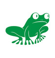 frog green vector image vector image