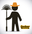 gardener design vector image