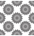 geometric flower seamless pattern vector image vector image