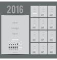 Geometrical calendar of 2016 vector image
