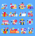 great sale flat icon set vector image vector image