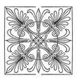 greek square panel is found on the coffer of the vector image vector image