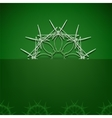 Green Symbolic Background vector image vector image