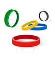 group of colored ring vector image vector image