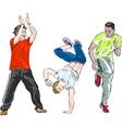 Group of Men Breakdancing vector image vector image