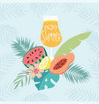 hand drawn enjoy summer party greeting card vector image vector image