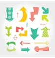 Hand drawn set of colorful arrows different forms vector image vector image