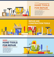 Hand tools vector image vector image