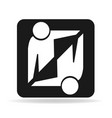 handshake business agreement icon vector image