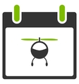 Helicopter Calendar Day Flat Icon vector image vector image