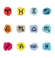 Horoscope Zodiac Star signs set vector image