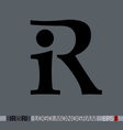 I-R or R-I monogram vector image vector image