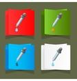 Icon medicine dropper with a drop vector image