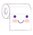 kawaii roll paper towel in purple blurred vector image