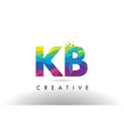 kb k b colorful letter origami triangles design vector image vector image