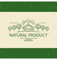 logo natural product Hand drawn tree vector image