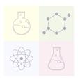Modern icon laboratory chemistry medicine vector image vector image