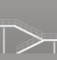modern staircase with metal railings vector image vector image
