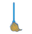 mop sweep object to clean the house vector image vector image