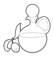 Olive oil icon outline style vector image vector image