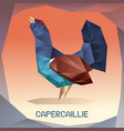 origami mosaic capercaillie vector image vector image