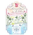 PASSOVER HOLIDAY LINE ART CARD vector image