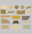 pieces of torn blank paper vector image vector image
