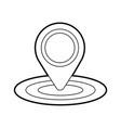 pin map gps location sign navigation vector image vector image