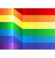 Rainbow bending stripes background vector image
