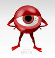 Red angry eyeball mascot vector image vector image